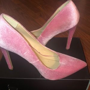 Pink suedette shoes